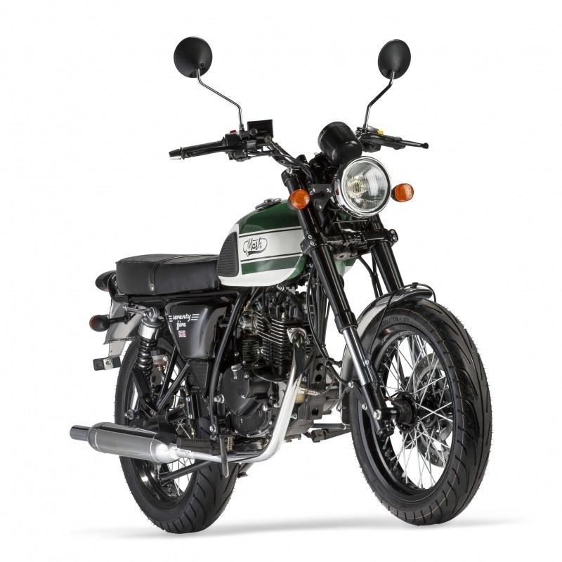 mash seventy five green 125 cm3 mash motorcycles. Black Bedroom Furniture Sets. Home Design Ideas