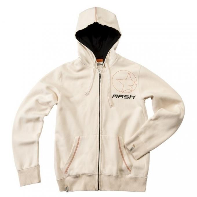 Белая куртка с капюшоном